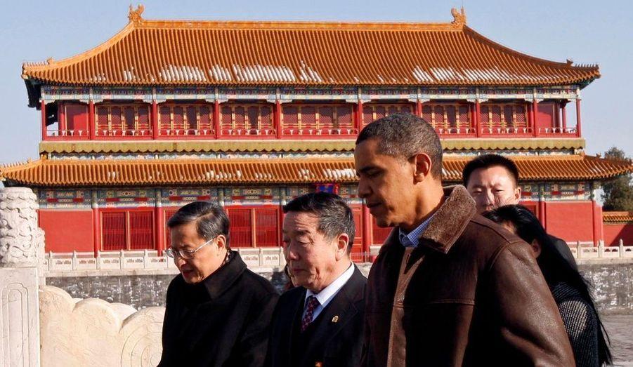 En pleine tournée asiatique, Barack Obama, le Président des Etats-Unis, a rencontré son homologue chinois Hu Jintao à Pékin. Il a aussi arpenté la célèbre Cité interdite.