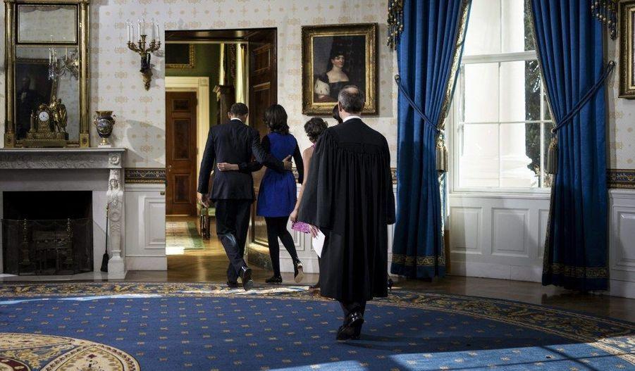 Tradition oblige, Barack Obama prêtera serment en public lundi, à Washington.