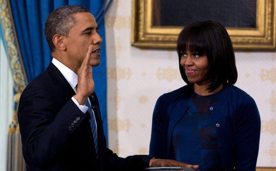 Barack Obama a prêté serment sur la Bible utilisée par Abraham Lincoln en 1861.