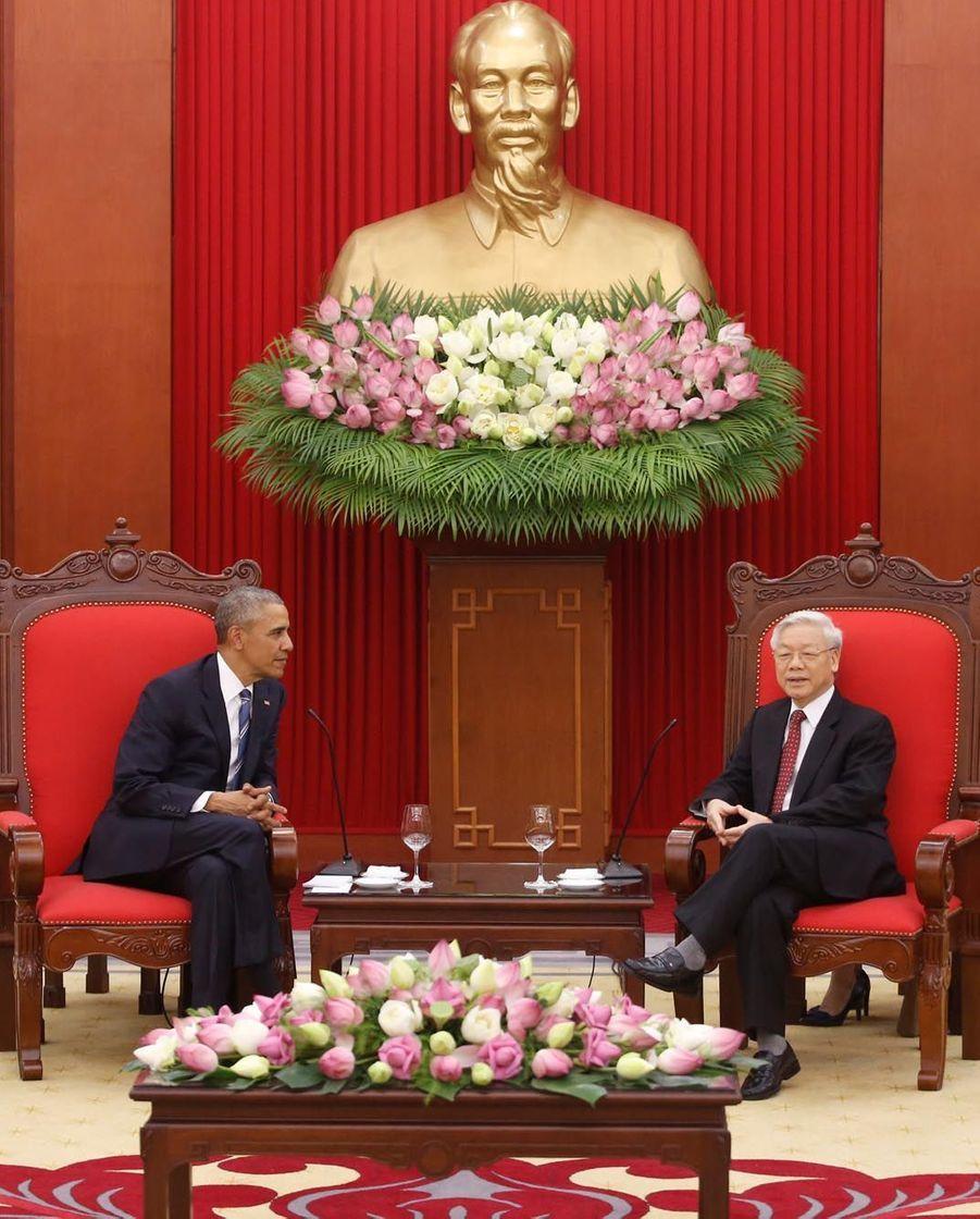 Barack Obama et le numéro un du PCV, Nguyen Phu Trong