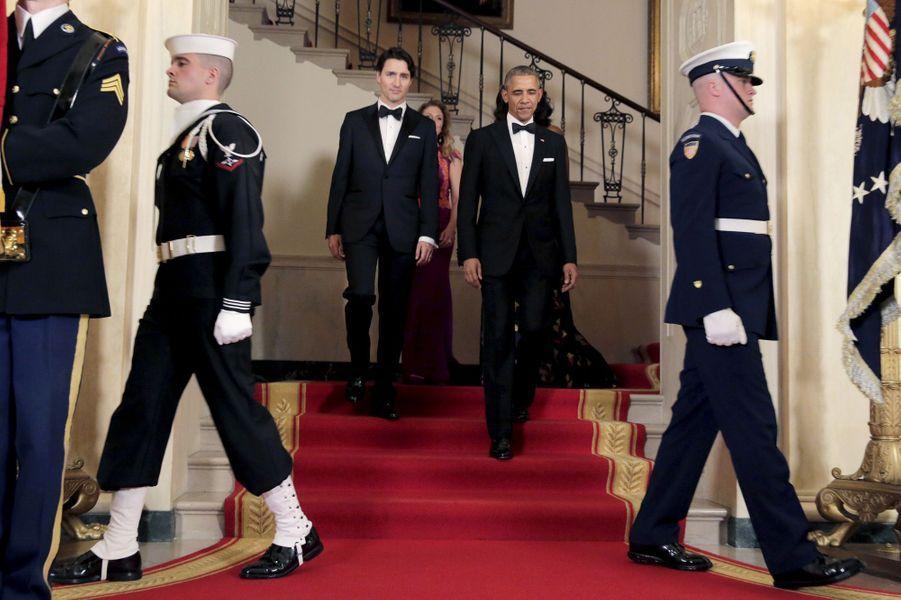 Justin Trudeau et Barack Obama à la Maison Blanche le 10 mars 2016