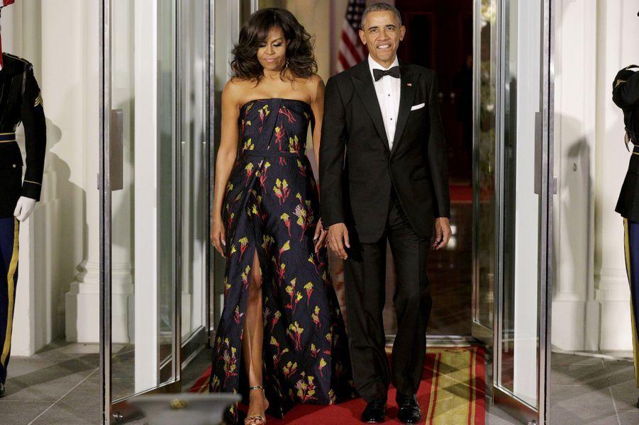 Michelle Obama et Barack Obama à la Maison Blanche le 10 mars 2016