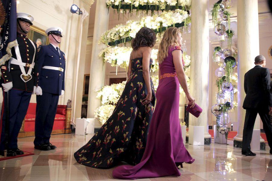 Sophie Grégoire-Trudeau et Michelle Obama à la Maison Blanche le 10 mars 2016
