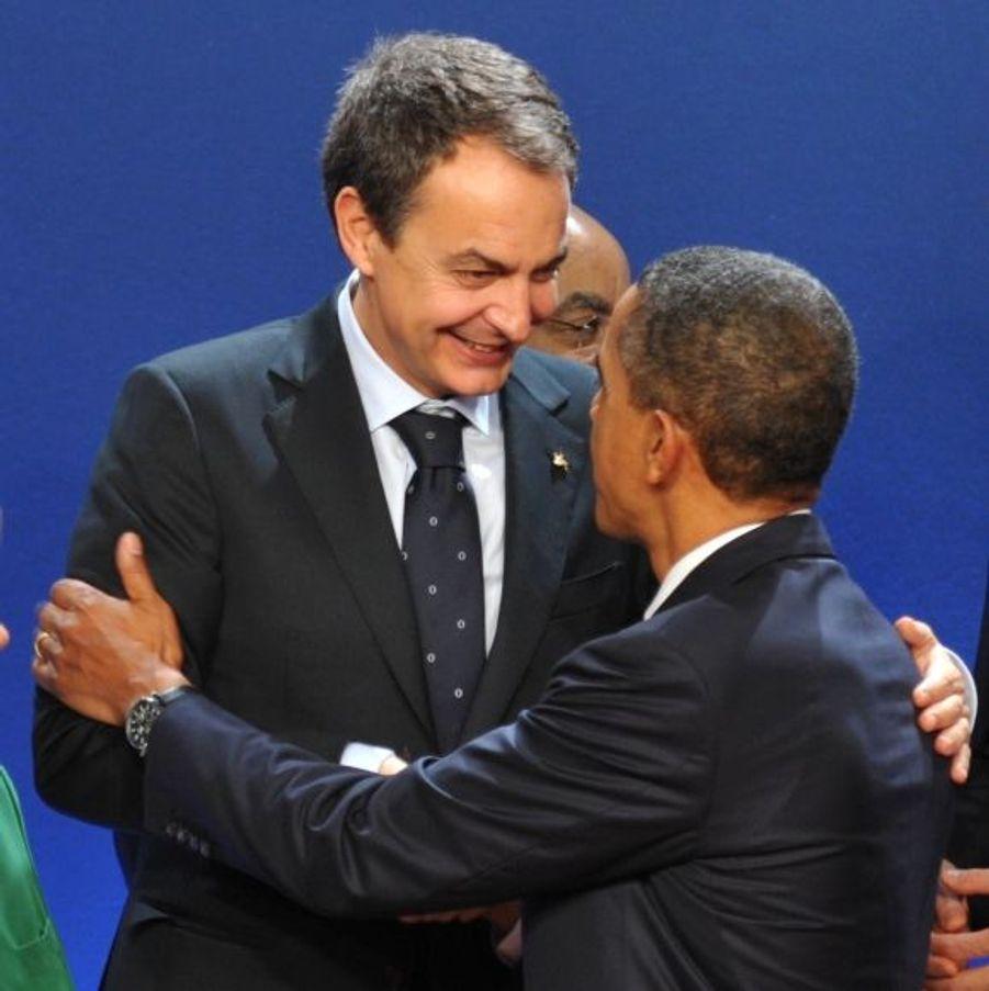 Avec Jose Luis Rodriguez Zapatero, le Premier ministre espagnol.