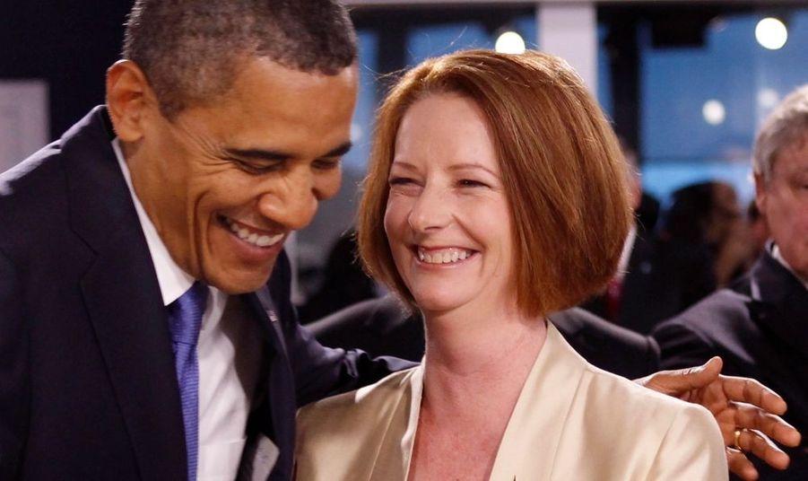 Avec Julia Gillard, la Première ministre australienne.