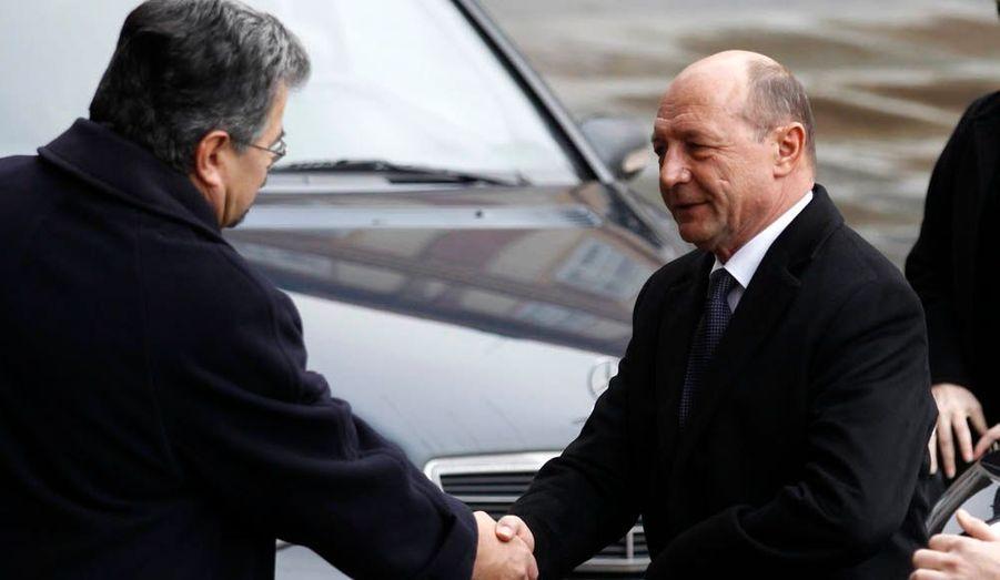 Le président roumain, Traian Băsescu