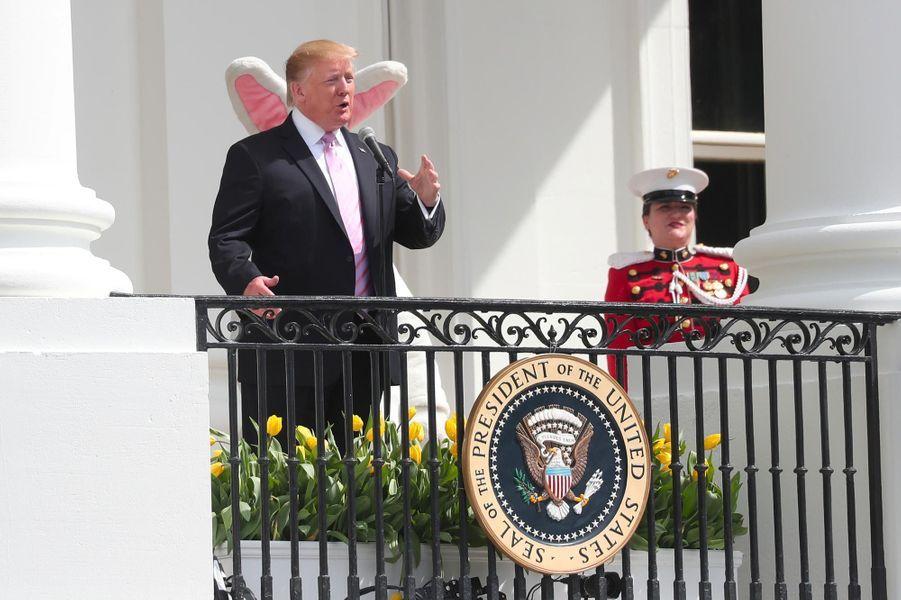 Donald Trump pour la fête de Pâques à la Maison-Blanche, le 22 avril 2019.