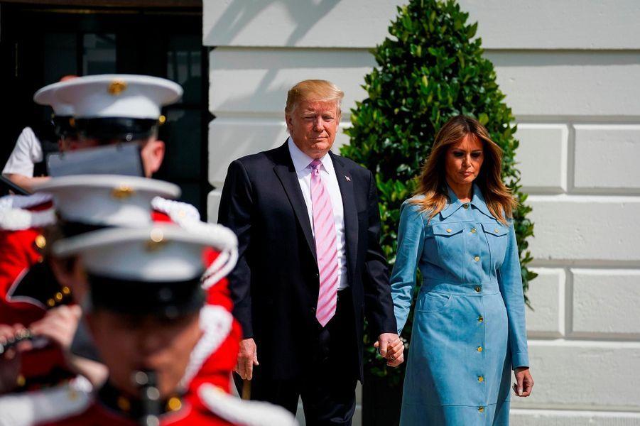 Donald et Melania Trump pour la fête de Pâques à la Maison-Blanche, le 22 avril 2019.