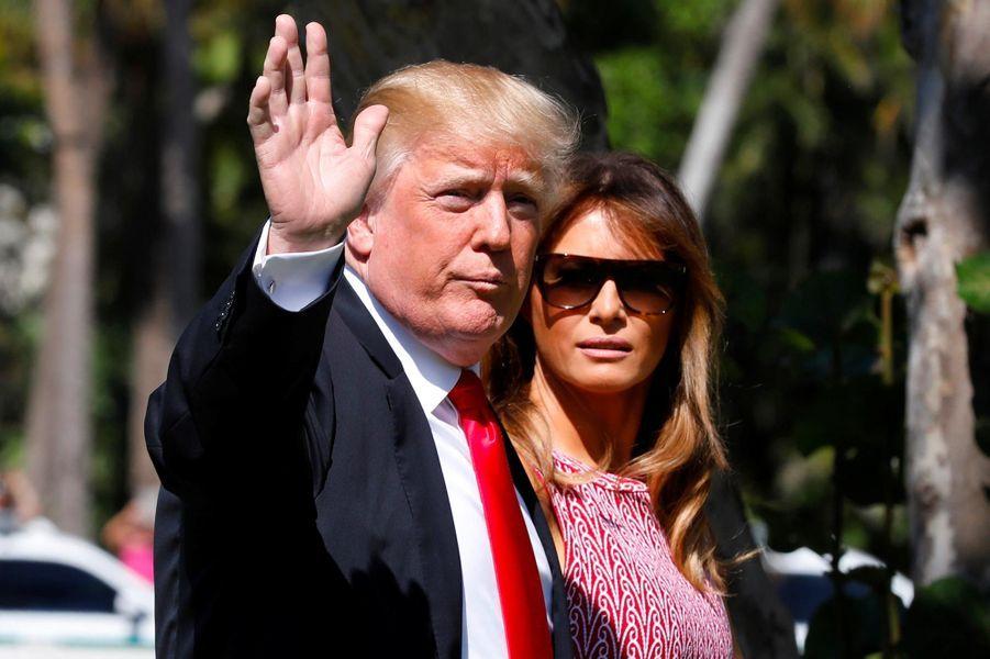 Donald et Melania Trump àBethesda-by-the-Sea, le 1er avril 2018.