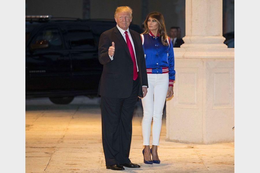 Donald et Melania Trump à Mar-a-Lago, le 4 février 2018.