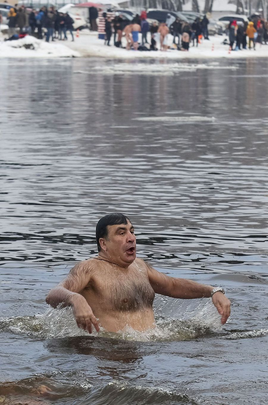 Mikhaïl Saakachvili à Kiev, le 19 janvier 2018.