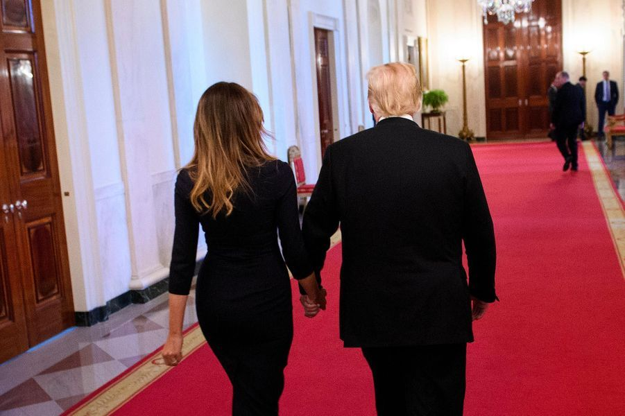 Donald et Melania Trump à la Maison-Blanche, le 24 octobre 2018.
