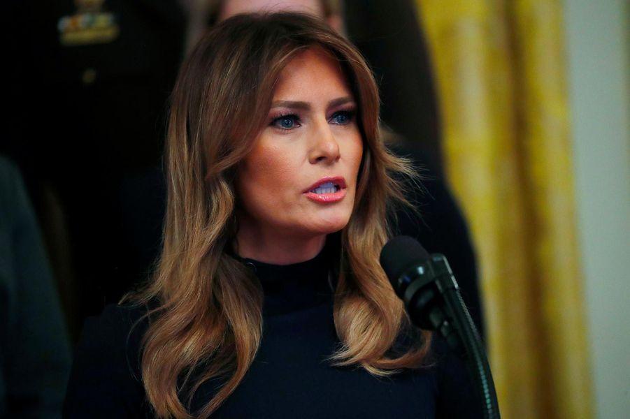 Melania Trump à la Maison-Blanche, le 24 octobre 2018.