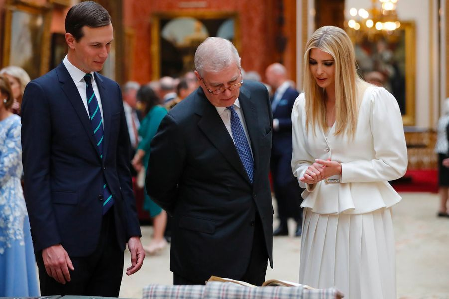 Jared Kushner et Ivanka Trump à Buckingham Palace, le 3 juin 2019.