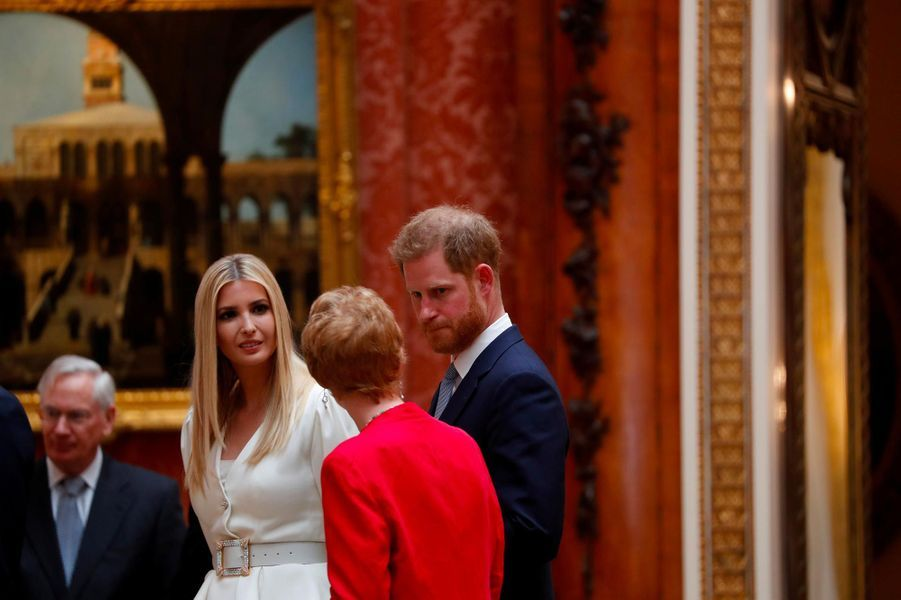 Ivanka Trump et le prince Harry à Buckingham Palace, le 3 juin 2019.