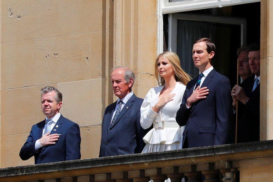 Jared Kushner et Ivanka Trump à l'arrivée de Donald et Melania Trump à Buckingham Palace, le 3 juin 2019.