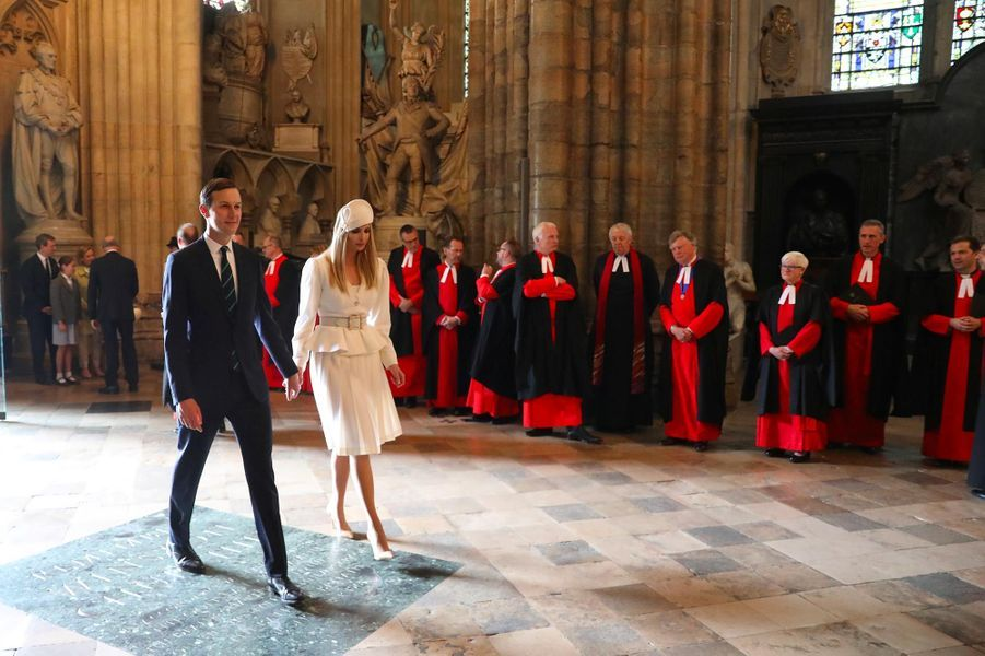 Jared Kushner et Ivanka Trump à Westminster Abbey, le 3 juin 2019.
