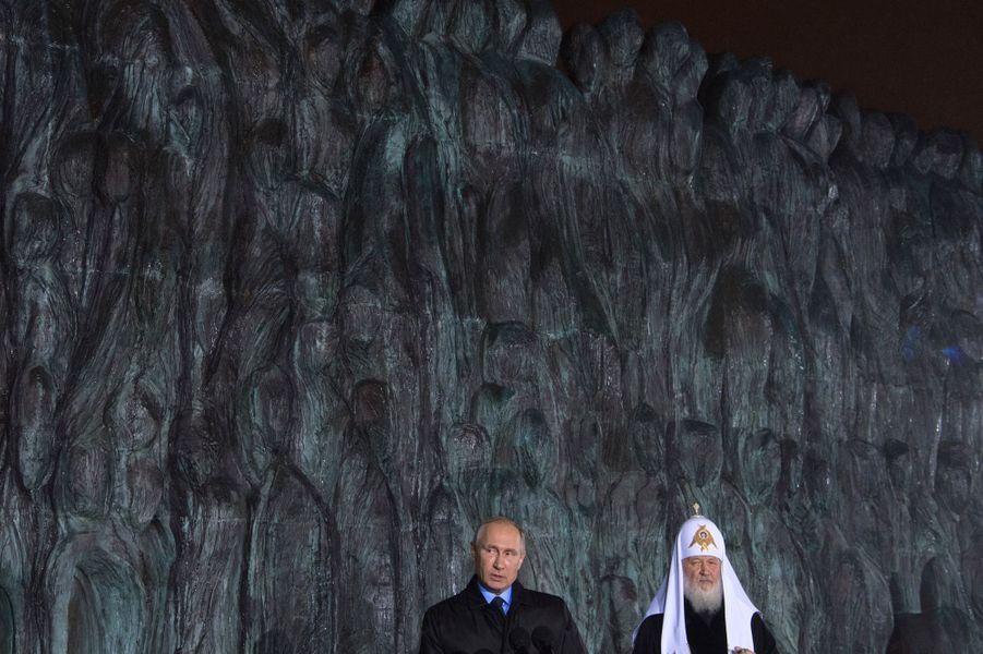 Vladimir Poutine et le patriarche Cyrille de Moscou, le 30 octobre 2017