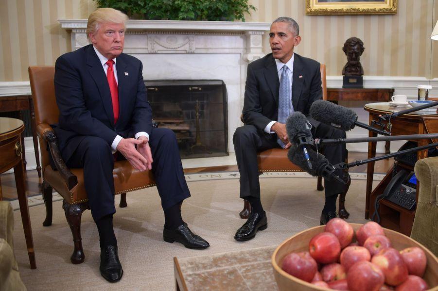 Barack Obama a reçuDonald Trumpdans le Bureau ovale.