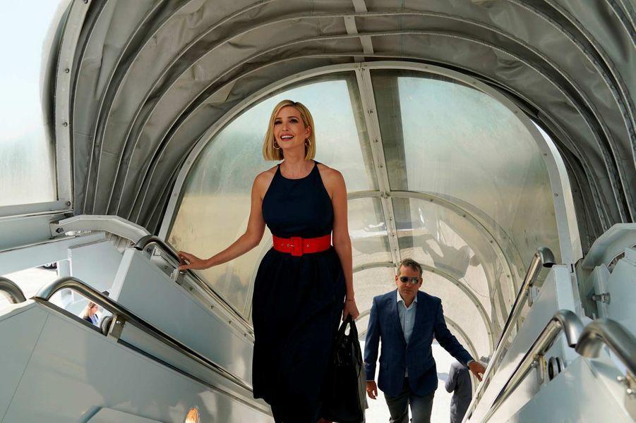 Ivanka Trump sur la base aérienne Andrews, avant de s'envoler pour la Colombie, le 2septembre 2019.