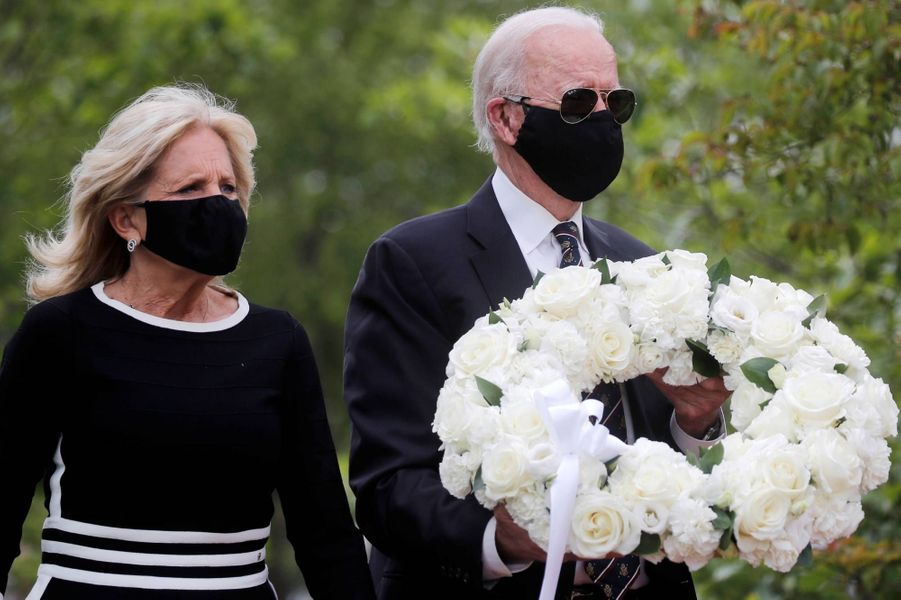 Jill etJoe Biden à New Castle, dans le Delaware, le 25 mai 2020.