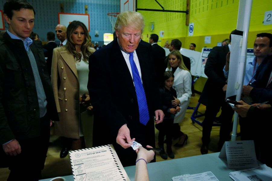 Donald Trump a voté mardi à New York