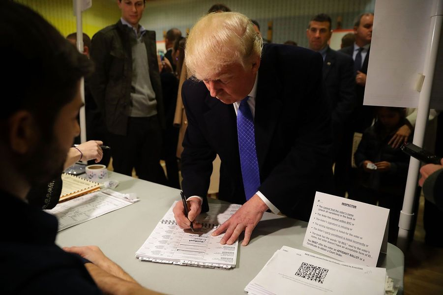 Donald Trump a voté dans un bureau de vote à New York