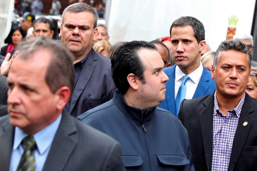 Juan Guaido à Caracas, au Venezuela, le 5 janvier 2020.
