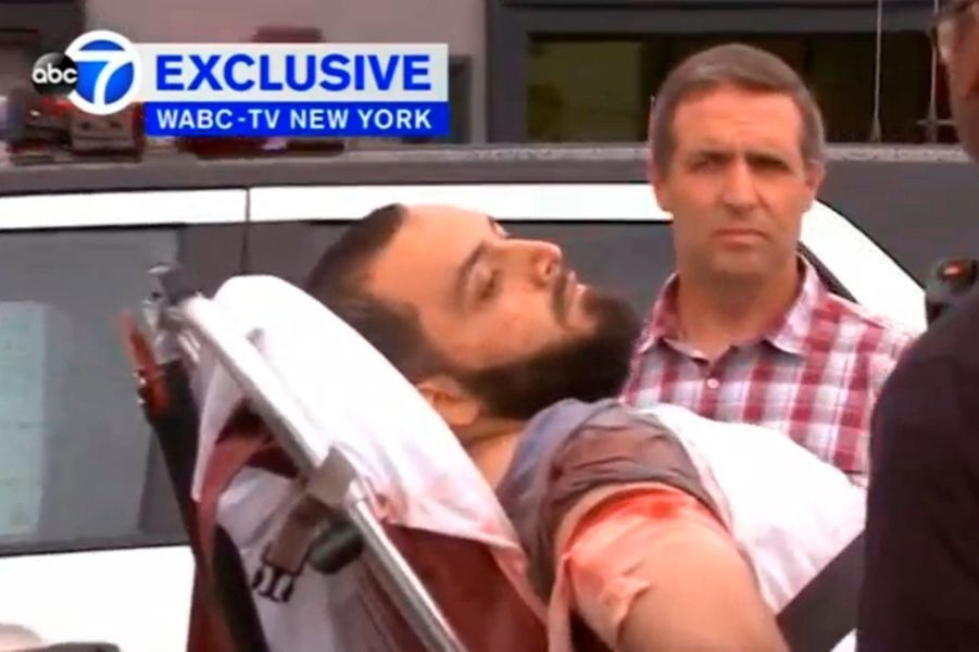 Photo de l'arrestation d'Ahmad Khan Rahami, à Linden, New Jersey, le 19 septembre.