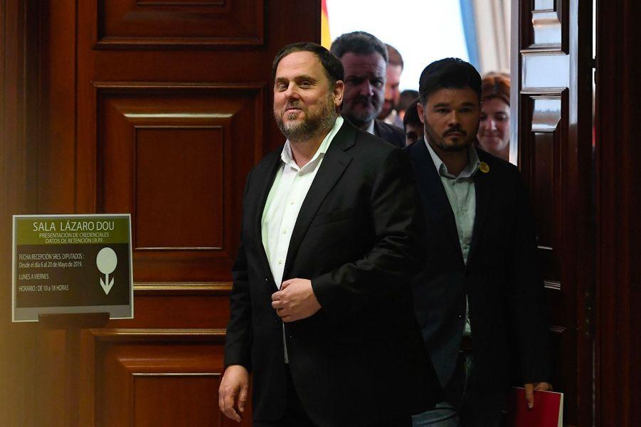 Oriol Junqueras, eurodéputé de la Gauche républicaine de Catalogne.