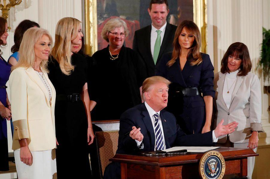 Donald et Melania Trump à la Maison-Blanche, le 9 mai 2018.