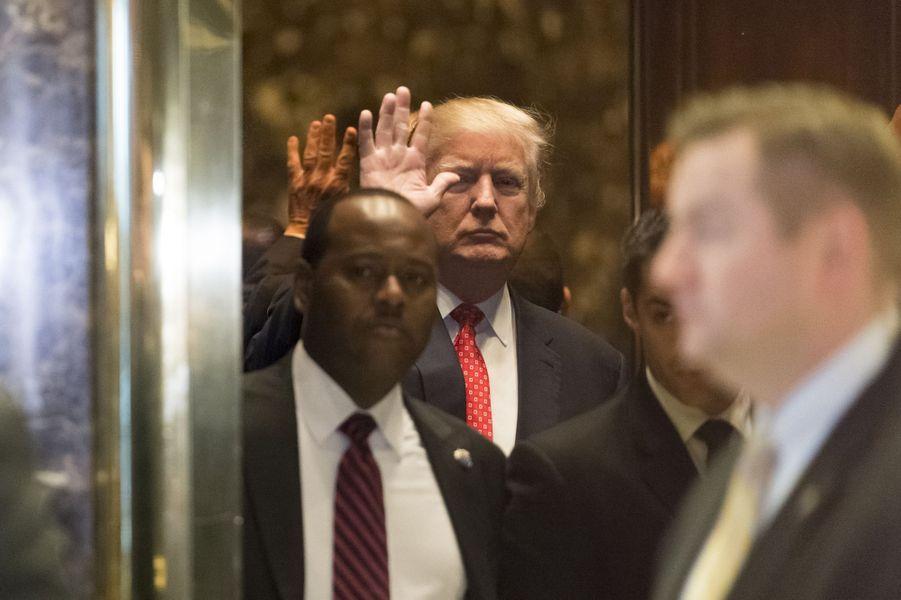 Donald Trump à la Trump Tower, le 9 janvier 2017.