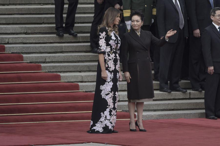 Melania Trump et Peng Liyuan à Pékin, le 9 novembre 2017.