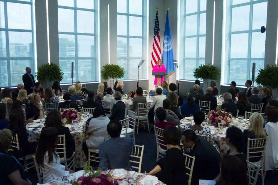 Au déjeuner au siège des Nations unies, le 20 septembre 2017.