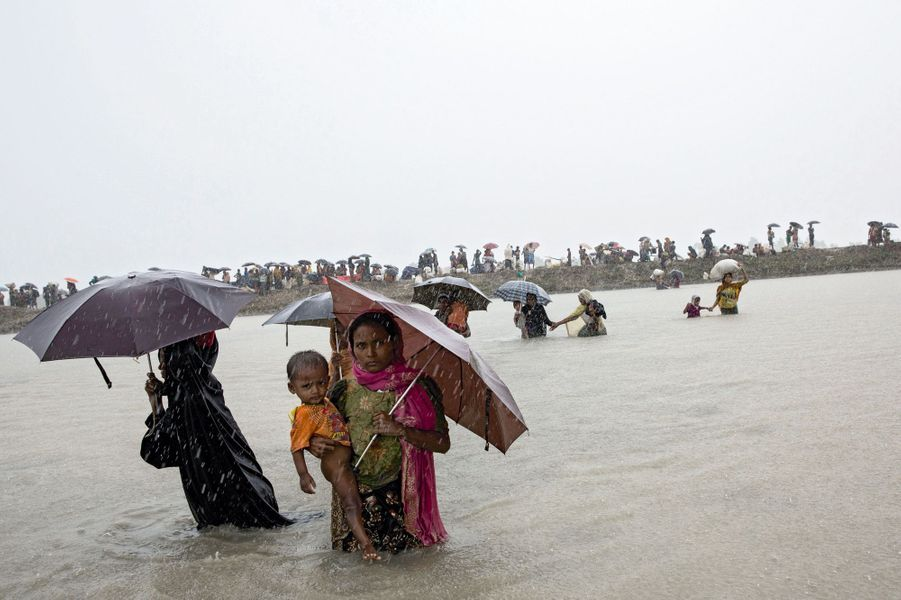Les Rohingyas.