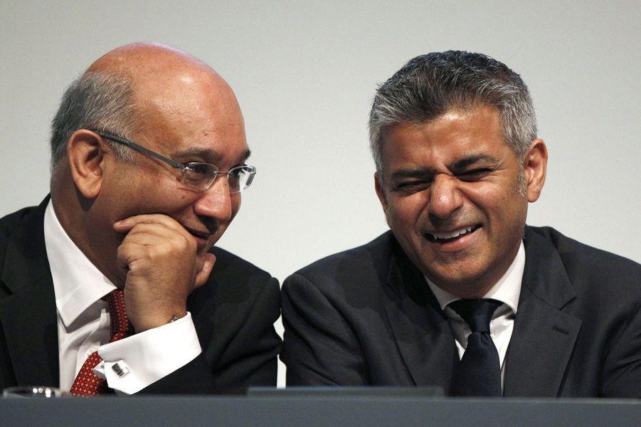 Keith Vaz et Sadiq Khan, le 28 septembre 2011.