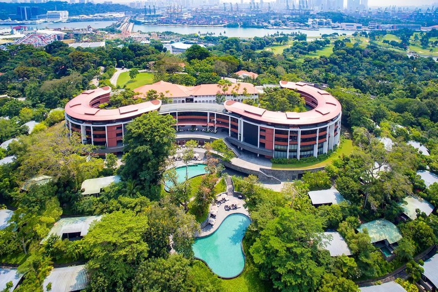 L'hôtel Capella, où aura lieu la rencontre entre Donald Trump et Kim Jong-un.