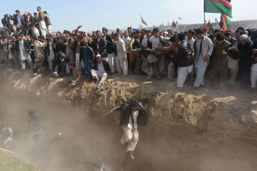 19 mars 2014, des supporters du candidat à la présidentielleAshraf Ghani rassemblés dans la province de Kunduz.
