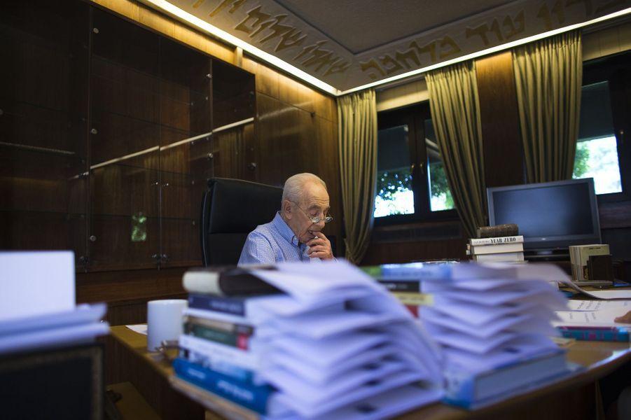 Shimon Peres, en juillet 2014.