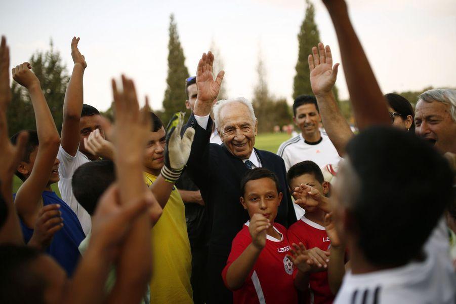 Shimon Peres, en septembre 2014.