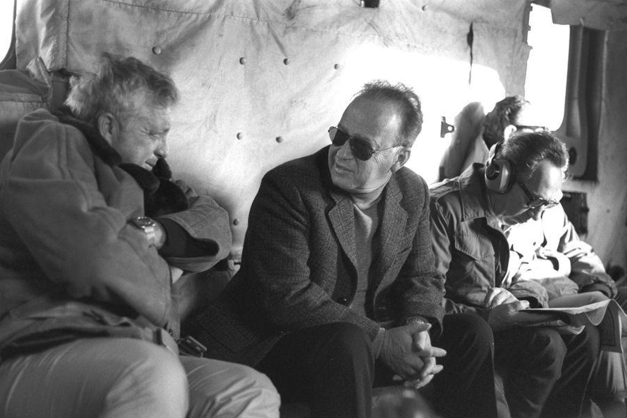 Ariel Sharon, Yitzhak Rabin et Shimon Peres, le 11 décembre 1975.