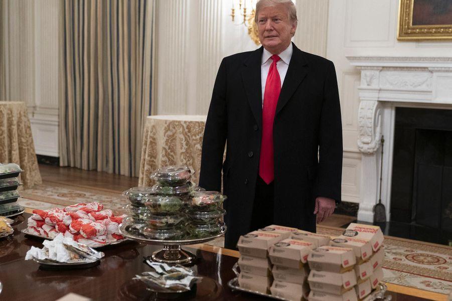 Fast-food pour les invités à la Maison-Blanche, le 14 janvier 2019.