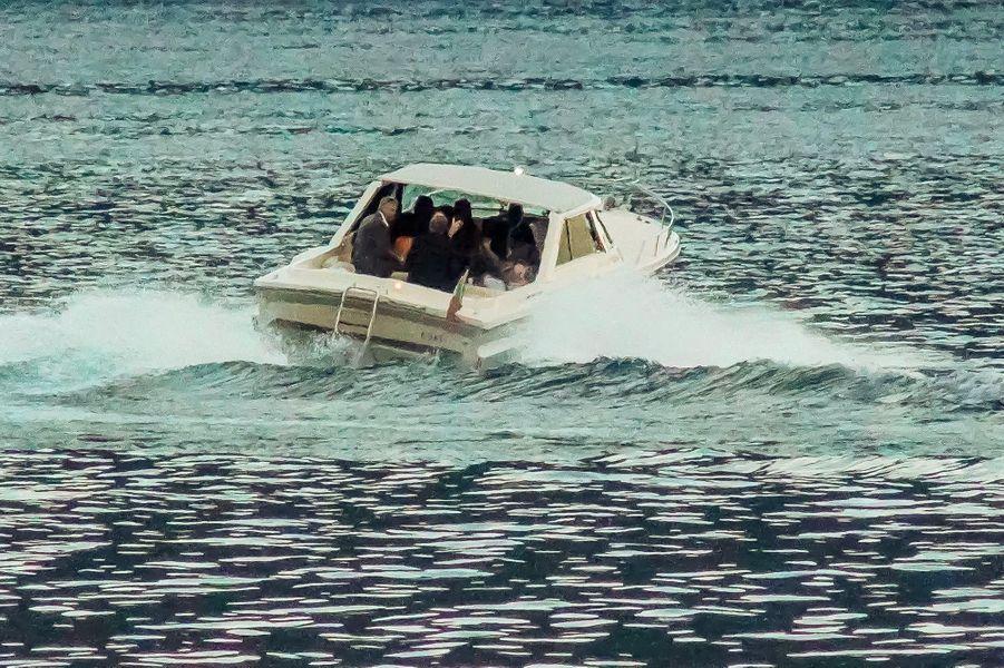 Barack Obama et George Clooney sur le lac de Côme, le 23 juin 2019.