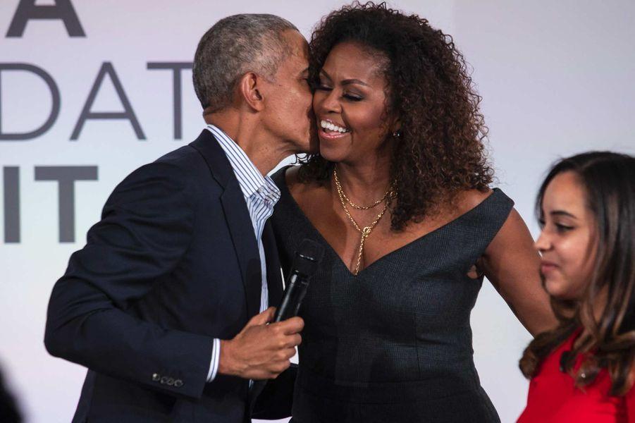 Barack et Michelle Obama à Chicago, le 29 octobre 2019.
