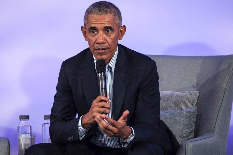 Barack Obama à Chicago, le 29 octobre 2019.