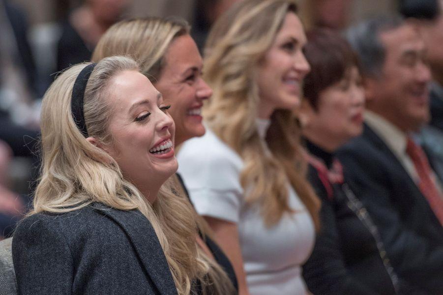 Tiffany Trump, Vanessa Trump et Lara Trumpàl'inauguration du nouvel immeuble Trump à Vancouver, le 28 février 2017.