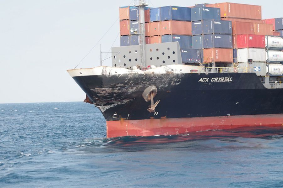 Selon la chaîne de télévision NHK, l'«ACX Crystal» a effectué un brusque virage juste avant la collision avec l'«USS Fitzgerald».