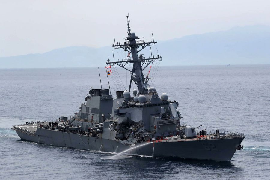 L'«USS Fitzgerald», endommagé au large du Japon, avait été lancé au milieu des années 1990.