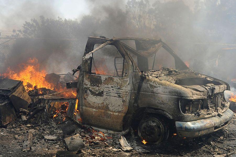 Spectaculaire incendie en Californie
