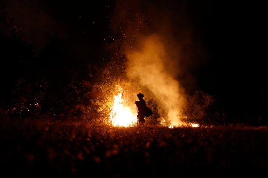 Ombre sur feu